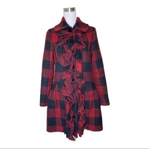 ANthropologie Plenty by Tracy Reese plaid coat M